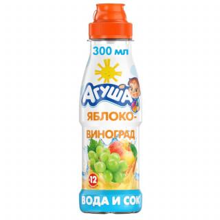 Агуша Вода с соком Яблоко, 12мес+, 300мл — БЕЗ САХАРА