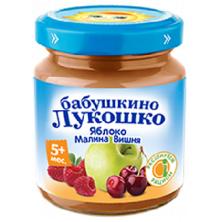 «Бабушкино Лукошко» Яблоко, Малина, Вишня, 5мес+, 100гр