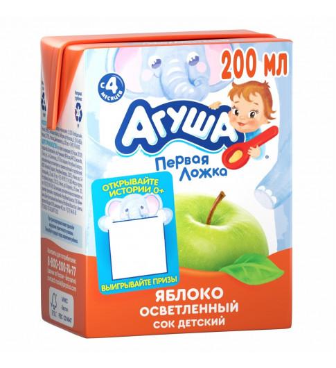 Агуша Сок Яблоко Осветленный, 6мес+, 200 мл