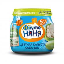 ФрутоНяня пюре цветная капуста-кабачок, 5мес+, 80гр до 22 марта срок