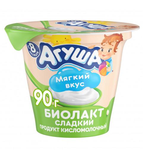 «Агуша» Биолакт сладкий, 8мес+, 90 гр