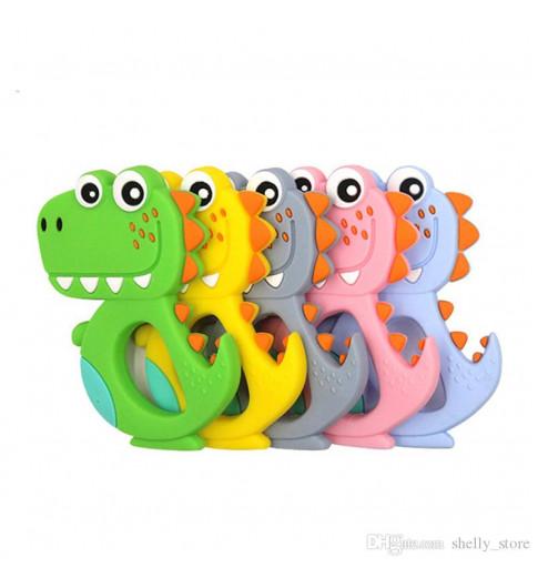 Бусинка  Прорезыватель силиконовый Крокодил, 0мес+