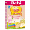 Bebi Premium Каша «Для полдника» Пшеничная с печеньем и грушей, молочная, 6мес+, 200г