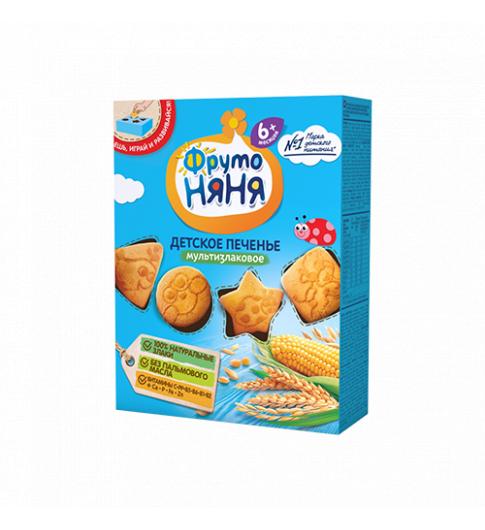 Фрутоняня Детское печенье «Мультизлаковое», 6мес+, 150гр