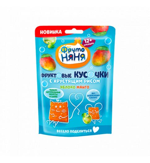 Фрутоняня Кусочки с Хрустящим Рисом: Манго Яблоко, 12мес+, 42 гр
