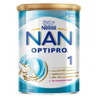 NAN 1 Сухая молочная смесь, 0мес+, 800 гр