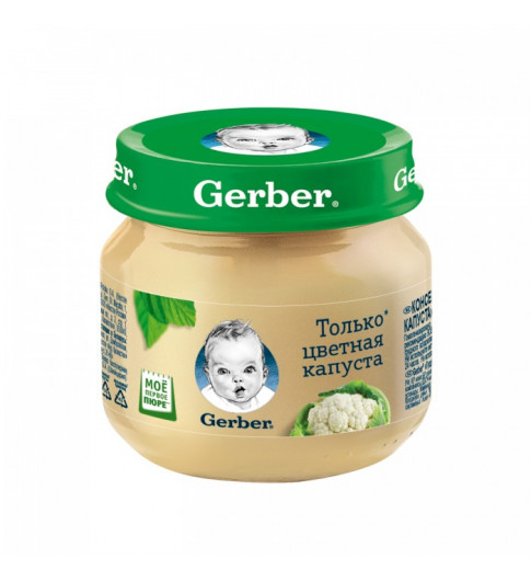 Gerber пюре Цветная капуста, 4мес+, 80гр