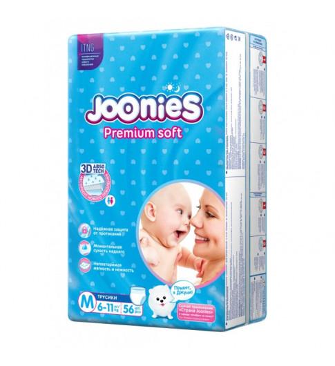 Joonies PremiumSoft Трусики M 6-11 кг, 56 шт Джунис