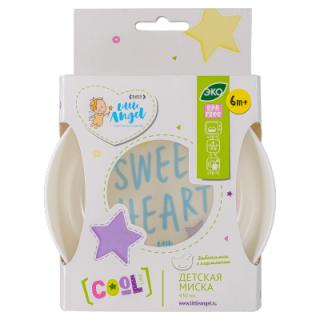 Little Angel тарелка COOL Lettering, 6мес+, 430 мл