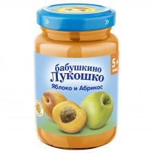 «Бабушкино Лукошко» Пюре Яблоко абрикос, 5мес+, 190гр
