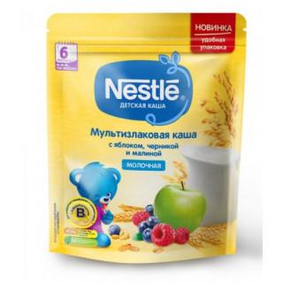 Nestle Каша Мультизлаковая яблоко, черника и малина, 6мес+, 220гр  Нестле