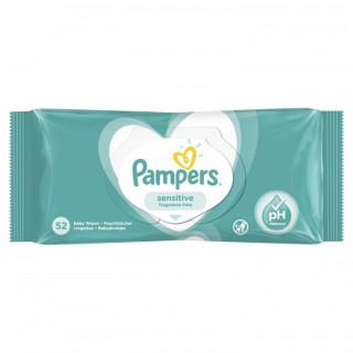 Pampers Детские влажные салфетки Sensitive 52 шт.