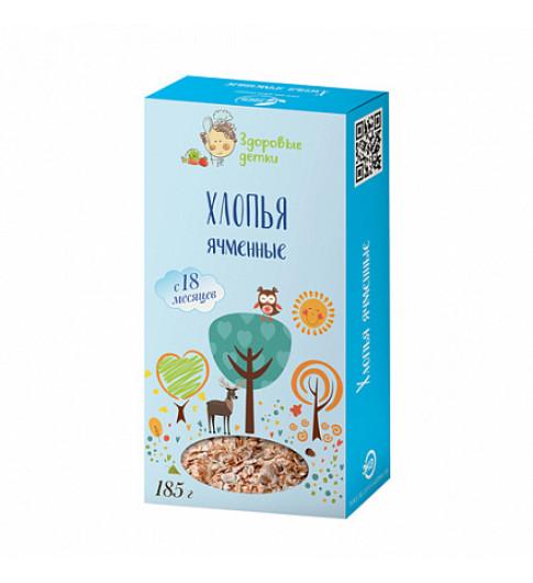 Здоровые детки Хлопья Ячменные, 18 мес, 185 гр