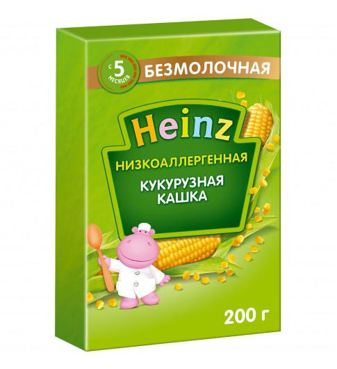 Heinz Каша кукурузная, без молока, 5мес+, 200гр Хайнц Низкоаллергенная