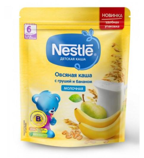 Nestle Каша Овсяная с грушей и бананом, молочная, 220 гр, 6мес+  Нестле