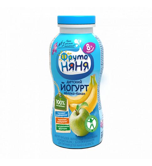 Фрутоняня Йогурт Яблоко Банан, 8мес+, 200 гр ДО 8 МАРТА