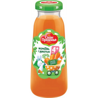 Сады Придонья Нектар Морковь с мякотьюй. 200 мл, 4мес+ - стекло