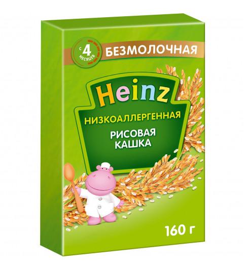 Heinz Каша Рисовая безмолочная без сахара, 4мес+, низкоаллергенная, 160 гр  (Хайнц)