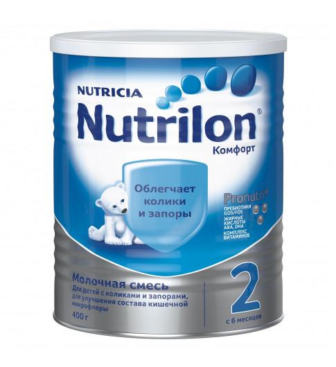 Nutrilon Комфорт 2 молочная смесь, 400гр, 6мес+  (облегчает колики и запоры)