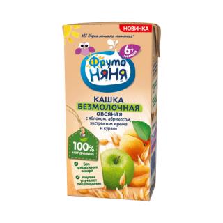 ФрутоНяня Кашка безмолочная овсяная яблоко-абрикос-курага, 6мес+, 200 мл
