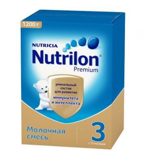 Nutrilon Premium 3 детское молочко, 12мес+, 1200гр нутрилон