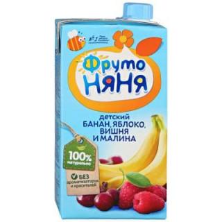 ФрутоНяня Сок Яблоко, Банан, Вишня и Малина, 500 мл