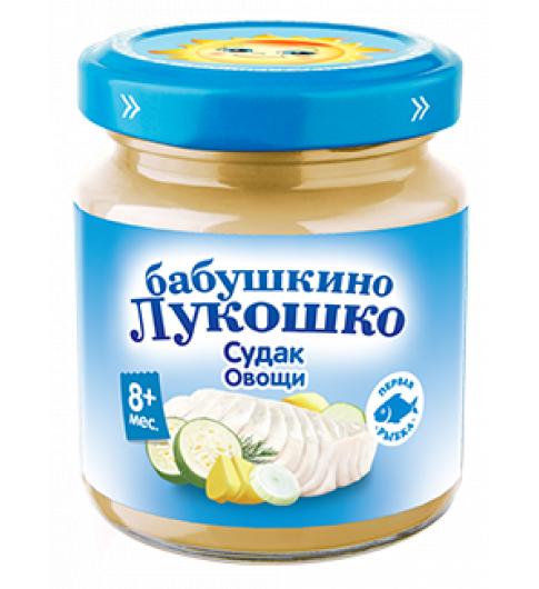 «Бабушкино Лукошко» пюре Судак овощи, 8мес+ 100гр