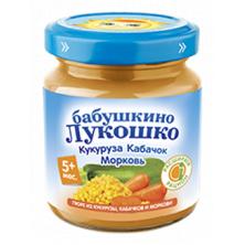 «Бабушкино Лукошко» Кукуруза, Кабачок и морковь, 5мес+, 100гр