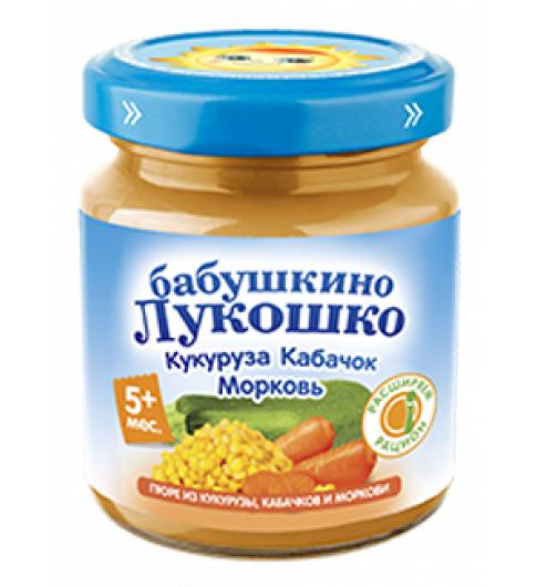 «Бабушкино Лукошко» Кукуруза, кабачки и морковь, 5мес+, 100гр