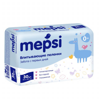 Mepsi Детские впитывающие пеленки, 60×40, 30 шт