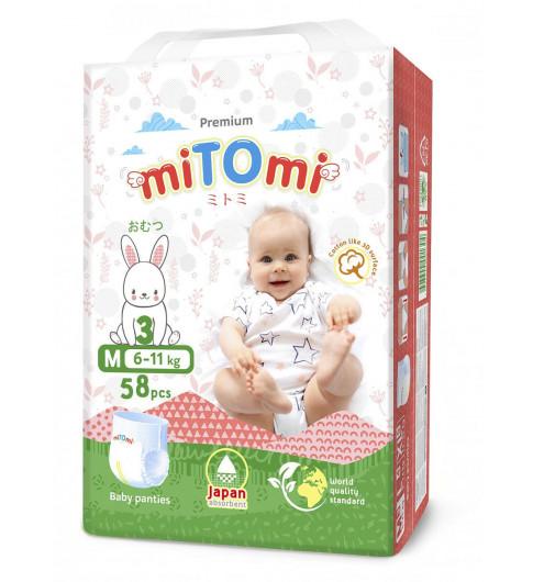 miTOmi Подгузники-трусики М (6-11 кг), 58 шт