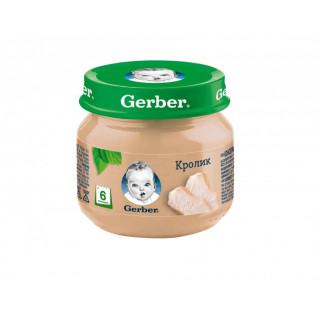Пюре Gerber Кролик, 6мес+, 80 гр — без рисовой муки
