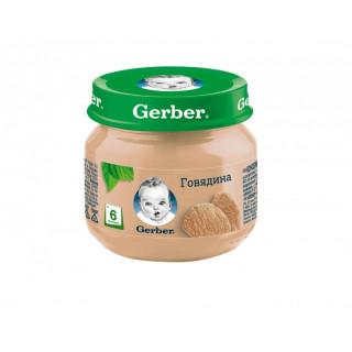 Пюре Gerber говядина, 6мес+, 80 гр — без рисовой муки