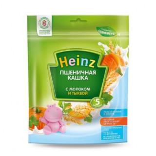 Heinz Каша Пшеничная с молоком и тыквой, 5мес+, 200гр