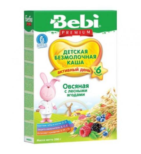 Bebi Premium Каша безмолочная, овсяная с лесными ягодами, 6мес+, 200г