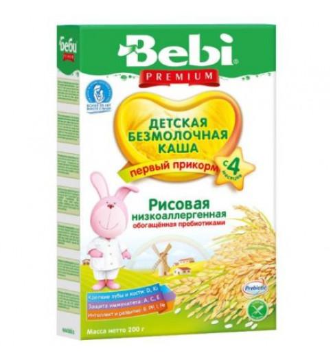 Bebi Каша рисовая безмолочная, 4мес+, 200 гр