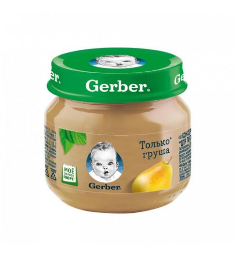 Gerber Пюре Груша, 4мес+, 80 гр Гербер
