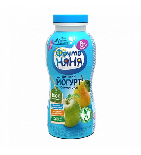 ДО 13.08 Фрутоняня Йогурт Яблоко Груша, 8мес+, 200 гр