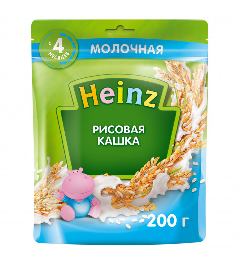 Heinz Каша Рисовая  с молоком, 4мес+, 200гр хайнц
