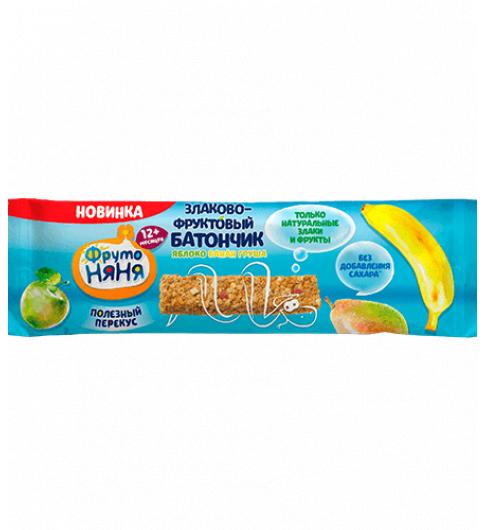 Фрутоняня Злаково-Фруктовый батончик «Яблоко, Банан, Груша», 12мес+