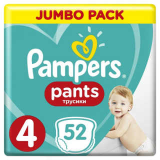 Pampers  (Памперс) Подгузники-трусики  Pants Maxi р.4 (9-15 кг) 52 шт