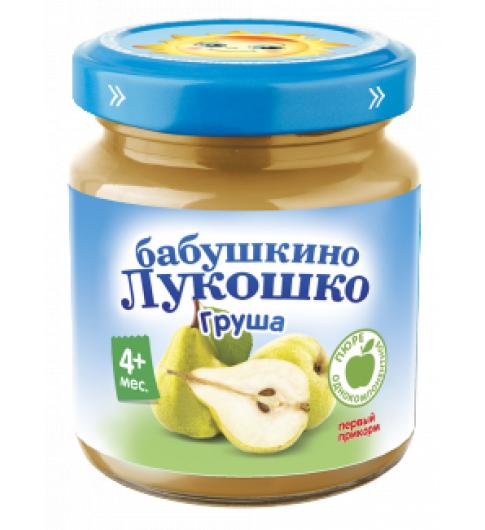«Бабушкино лукошко» Пюре из груш, 4мес+, 100 гр