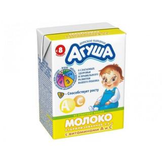 27.12 Агуша Молоко стерилизованное витаминизированное 2.5% 200МЛ