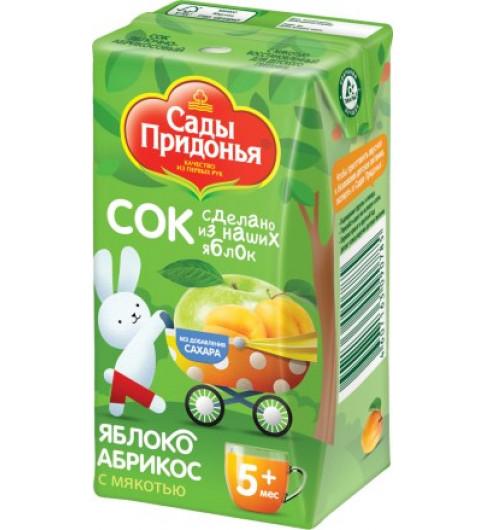 Сады Придонья Сок Яблоко-абрикос с мякотью. 125 гр, 5мес+ - тетрапак