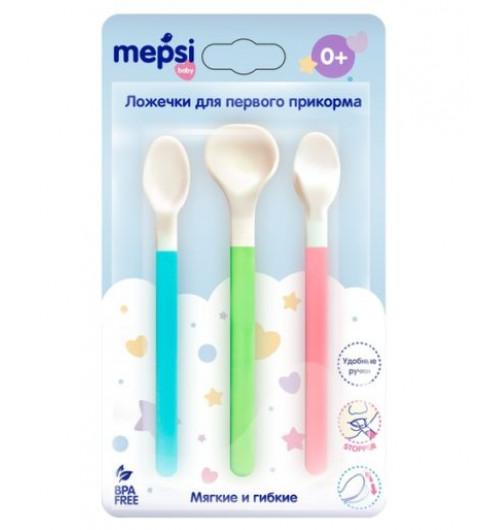 Mepsi Ложечки для первого прикорма, 3 шт, 0мес