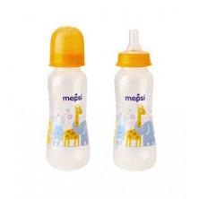 Mepsi Бутылочка для кормления с силиконовой соской, 0мес+, 250 мл (Черепаха, Слон)