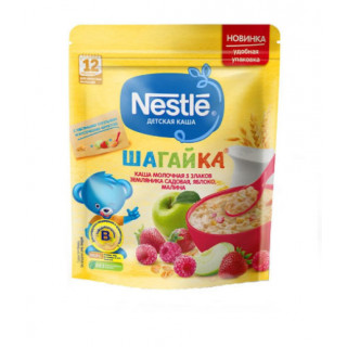 Nestle Каша Шагайка 5 Злаков земляника, малина и яблоко, 12мес, 200гр Нестле