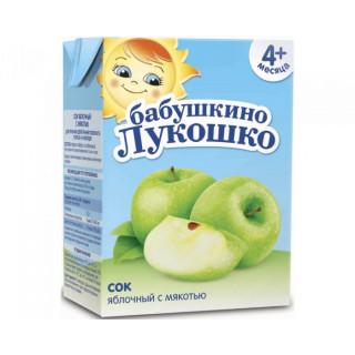 «Бабушкино Лукошко» Сок Яблочный с мякотью, 4мес+, 200гр