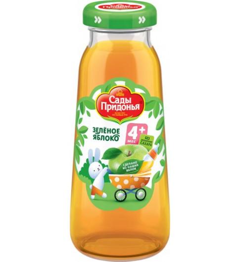 Сады Придонья Сок Зелёное яблоко осветлённый. 200 мл, 4мес+ - стекло