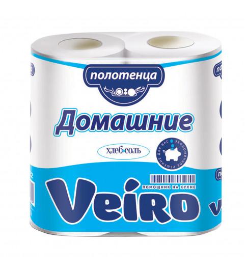 Veiro Полотенце с перфорацией и теснением, 2 рул 12,5 м, 2 слоя